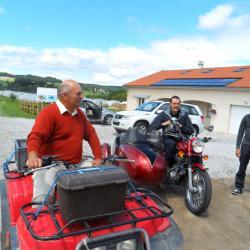 Arrivé en moto